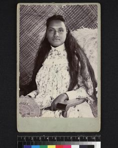 University of Southern California - Studio portrait of Samoan woman, ca. 1880-1890 Samoan Women, Victorian Life, University Of Southern California, Studio Portraits, Mona Lisa, Polaroid Film, Woman, Artwork, Work Of Art