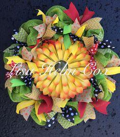 Sunflower wreath