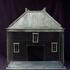 "ANTIQUE AVIARY  CA. 1850  DORDOGNE, FRANCE  ANTIQUE SMALL BIRD AVIARY   WITH ""WINDOWS"""