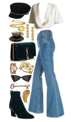 """Untitled #172"" by juliakaitlyn on Polyvore featuring River Island, Jimmy Choo, Yves Saint Laurent, Sachin + Babi, Chanel, Too Faced Cosmetics and Bulgari"