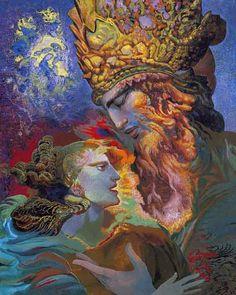 Ernst Fuchs - Der König und die Königin