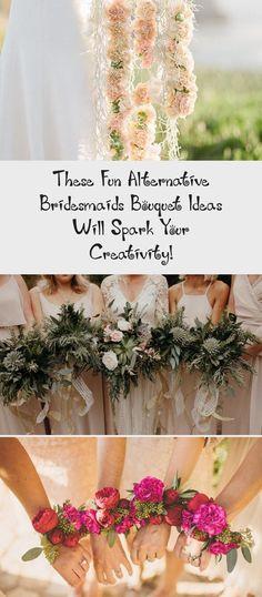 These Fun Alternative Bridesmaids Bouquet Ideas Will Spark Your Creativity! - Green Wedding Shoes #IvoryBridesmaidDresses #TealBridesmaidDresses #BridesmaidDresses2018 #NeutralBridesmaidDresses #BridesmaidDressesBlue
