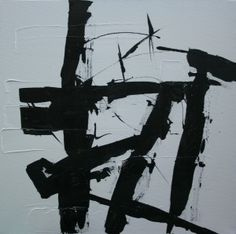 "Abstract, Abstract Art, ""monochrome 1"" 