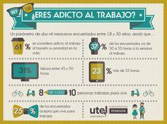 ¿Eres adicto al trabajo? ¿Trabajas para vivir o vives para trabajar? #Infografia #Trabajo #Empleo #UTEL #Infografia #UniversidadUTEL #Workaholic