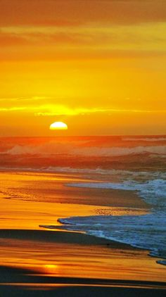 A beach sunset.