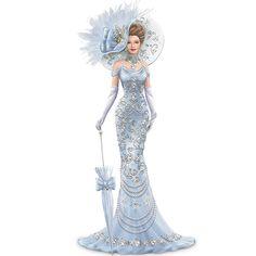 Amazon.com - Thomas Kinkade Timeless Reflections Elegant Lady Figurine - Collectible Figurines