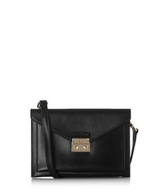 Kensal black leather envelope clutch Sale - Mulberry