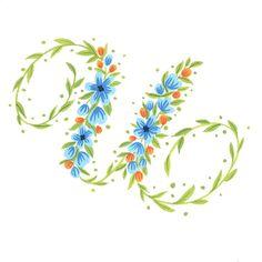 """Today's #handletteredABCs - U. #handletteredABCs_2016 #abcs_U #handlettering #gouache #illustration #floral #type"""