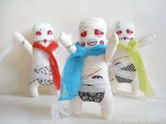 zombie mummy dolls by fionaT