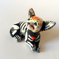 Day of the Dead Chihuahua Dog Sugar Skull pet by SpiritofAine