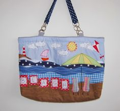 Beach Scene Beach Bag