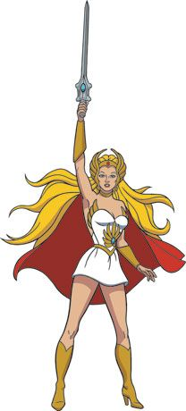 She-Ra...totally went as her for Halloween one year.