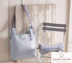 Pasito a Pasito change bag.  Made in Spain. Also available in pink.  www.monpetitoscar.com