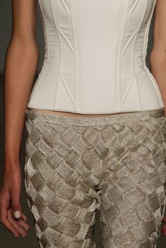 Knitwear, Silver, Dorhout Mees SS14 'La Belle Époque' Amsterdam Fashion Week. (Photo| Peter Stigter)
