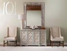 UTTERMOST  Mirror: 12926 Lamp: 27054-1 Coral: 19976 Cabinet: 24520 Chairs: 23189