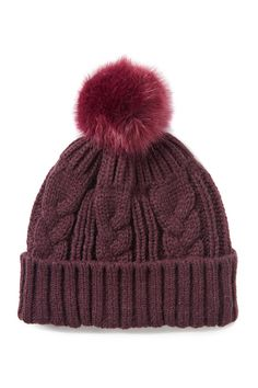 The Just In Time Beanie features an intricate cable knit and hero Pom Pom. Soft Summer, Beanies, Cable Knit, Knitted Hats, Composition, Winter Hats, Knitting, Cotton, Stuff To Buy