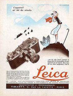 Leica, l'appareil qui fait des miracles en  1937.