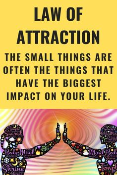 When you create a law of attraction lifestyle for yourself, it's often the small changes to your everyday life that you manifest that have the biggest impact. #LOA #lawofattraction