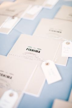 Bride collected recipes in the RSVP - and compiled into a cookbook for favors | Photography: Emily Scannell