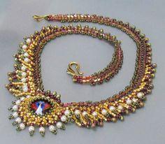 OOAK FERIGA Fringed Necklace by bead4me on Etsy