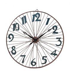 Reloj pared rueda estilo industrial números