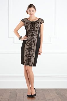 Elegant embroidered panel dress from Coast of London