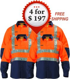 Now Available on our store : Bisley BS6267T 2 ... Check it out here http://www.budgetsafetywear.com.au/products/bisley-2-tone-hi-vis-drill-shirt-3m-reflective-tape-long-sleeve-4-pack?utm_campaign=social_autopilot&utm_source=pin&utm_medium=pin