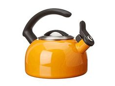 2.5 LITRE PURPLE WHISTLING KETTLE gas camping whistle WITH FOLD DOWN HANDLE