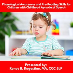Incorporating pre-reading activities into therapy can lead to increased reading success for children with CAS!  This webinar will give ideas and strategies on how you can design therapy to include phonological awareness in your very next session.