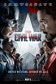 Captain America Civil War - Directed by Anthony Russo, Joe Russo. With Chris Evans, Robert Downey Jr. Political interference in the Avengers& activities causes a rift between former allies Captain America and Iron Man. Marvel Captain America, Captain America Poster, Robert Downey Jr, Steve Rogers, Cinema 8, Films Marvel, Marvel Marvel, Avengers Movies, Movie Posters