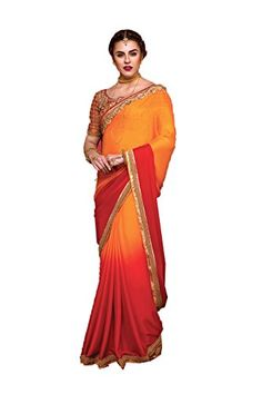 Sangrahan Indian Women Designer Party wear orange Color Saree Sari K54564964 -- Want to know more, click on the image-affiliate link.