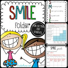 Free Goal Setting for Students ~ RtI ~ SMILE Goals for Making Progress setting goals, goal setting Student Goals, Student Guide, Student Data, Organization And Management, Classroom Organization, Classroom Management, Classroom Ideas, Data Binders, Data Notebooks