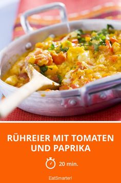 Rühreier mit Tomaten und Paprika - smarter - Zeit: 20 Min. | eatsmarter.de
