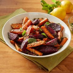 I'm checking out a delicious recipe for Carrots and Beets with Pesto from Kroger!