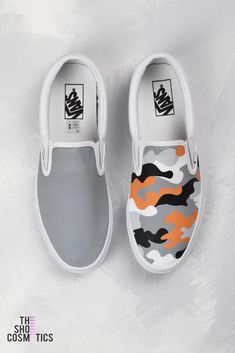 6933b1767b6225 Explore our camo print Vans slip on custom womens shoes. Looking for  fashion sneakers