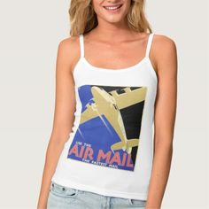 Use the Air Mail, the Fastest Mail Spaghetti Strap Tank Top Tank Tops