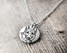 German Shepherd necklace dog necklace silver by lulubugjewelry Initial Pendant, Initial Charm, German Shepherd Puppies, German Shepherds, Dog Necklace, Memorial Jewelry, Tiny Heart, Dog Memorial, Stylish Jewelry