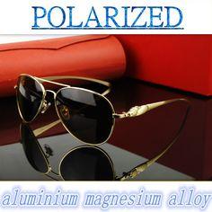2017 Magnesium aluminum alloy high-grade The inner coating men women  polarized  sun glasses UV400 polarized sunglasses driving