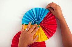 The Easiest Way to Make a Quick and Creative Photo Backdrop - Brit + Co Paper Rosettes, Paper Flowers, 2nd Birthday Party Themes, Paper Fans, Flower Template, Creative Photos, Diy Projects To Try, Photo Booth, Backdrops