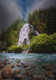 Schleierfall (Veil Waterfall) Austria by mariadraper  staniskabach Schleierfall Schleierfalle austria fall green happy june kals am grossglockner kalser l