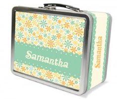 Pretty Petals Personalized Lunch Box