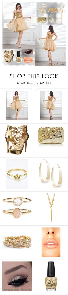 """Harry Dress Contest: Gold"" by dadrumma on Polyvore featuring GUESS, Anndra Neen, Lana, Accessorize, BERRICLE, Torrid and OPI"