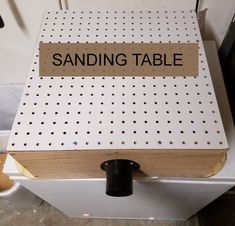 No one wants a dusty workshop. Keep it clean with a DIY sanding table. #WoodworkCrafting
