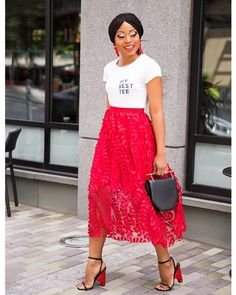 """3,003 Likes, 142 Comments - Stella Uzo (@jadorefashion) on Instagram: """"Tulle skirt with embroidery now #ontheblog www.jadore-fashion.com {link in bio} . . .…"""""""