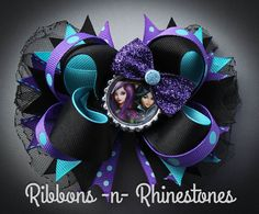 Descendants Hair Bow Boutique Hair Bow by RnRshairbowsandmore
