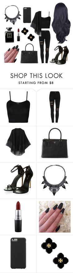 Untitled #14 by dandifbr on Polyvore featuring WearAll, Relaxfeel, Prada, Tory Burch, Case-Mate and MAC Cosmetics
