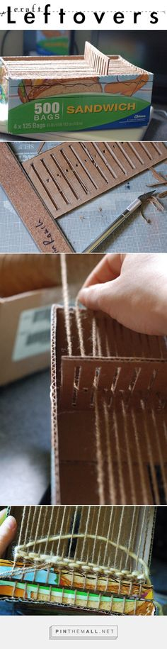 Cardboard Box Looms: DIY Weaving at it's finest!Craft Leftovers   Craft Leftovers - created via http://pinthemall.net