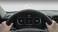 the collaboration believes this will be a major transition on how motorists will adapt to new, hybrid modes of driving and learn to share controls with automotive systems. Car Ui, Human Centered Design, Head Up Display, Self Driving, User Interface Design, Dashboards, Interactive Design, Ux Design, Interior Design