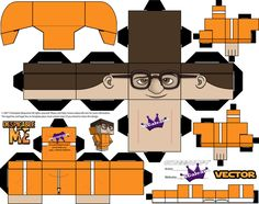 Despicable Me Vector Cubeecraft template by SKGaleana on deviantART