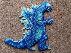 Long Black Fingers : Godzilla Perler Bead